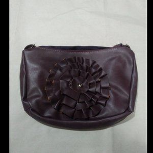 "New Brown Women's Flower Purse 12"" x 8"""